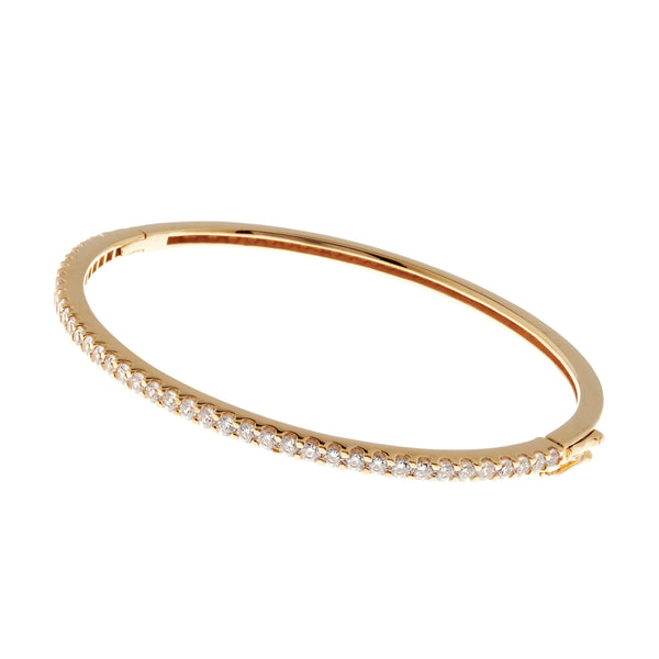B685-GP - Gold cz bangle