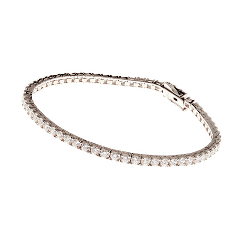 B272-RH - Rhodium claw set  tennis bracelet