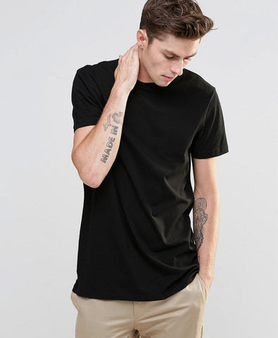 Longline T-Shirt With Color Pop Surf Logo Back Print