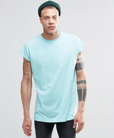 Oversized Sleeveless T-Shirt With Surf Back Print