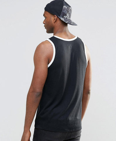 Tank With Large Swoosh Logo In Black