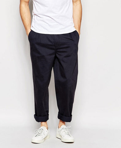 Pleated Chinos In Wide Leg Fit