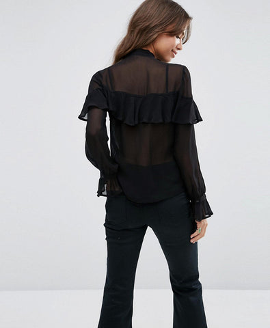 Ultimate Pussy Bow Ruffle Blouse