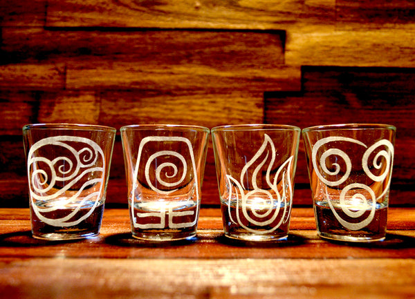Avatar: The Last Airbender / Legend of Korra Shot Glass Set of 4