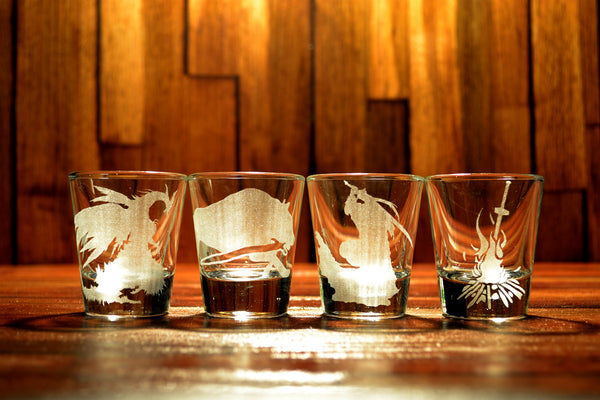 Dark Souls Shot Glass Set of 4 (FOUR)