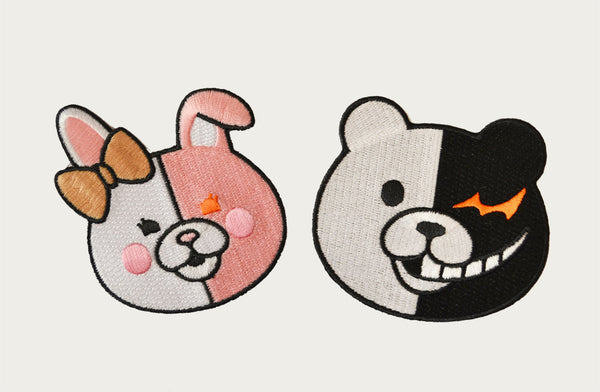 Monobear and Monomi Patches (Dangan Ronpa)