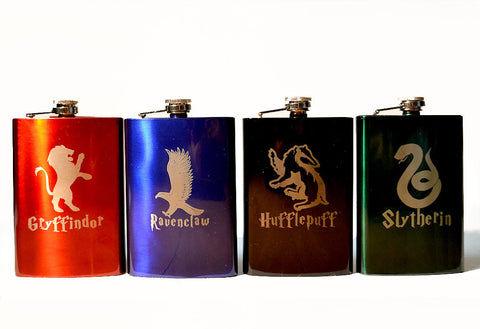 Harry Potter House Logo 8oz Flask