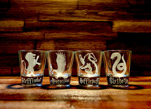 Harry Potter House Logo Shot Glass Choose ONE