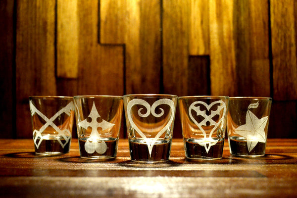 Kingdom Hearts Shot Glass Set of 5