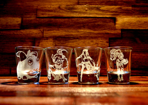 League of Legends Shot Glass Set of 4 (Choose 4 Champions)