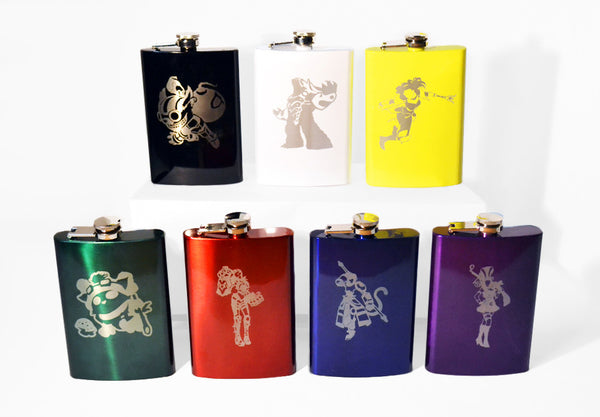 League of Legends 8oz Flask (CHOOSE YOUR CHAMPION)