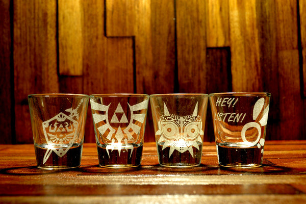 Legend of Zelda Shot Glass Set of 4