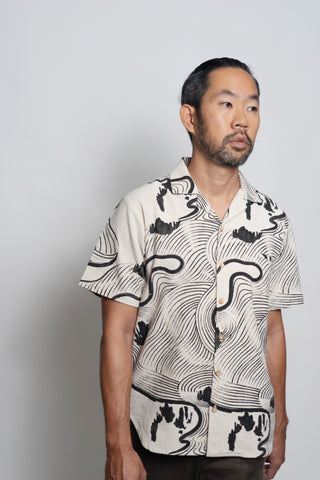 Lake Biwa Hawaiian Collar TAILORMADE