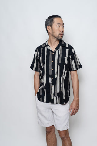 Take Mori Stripes Hawaiian Collar TAILORMADE