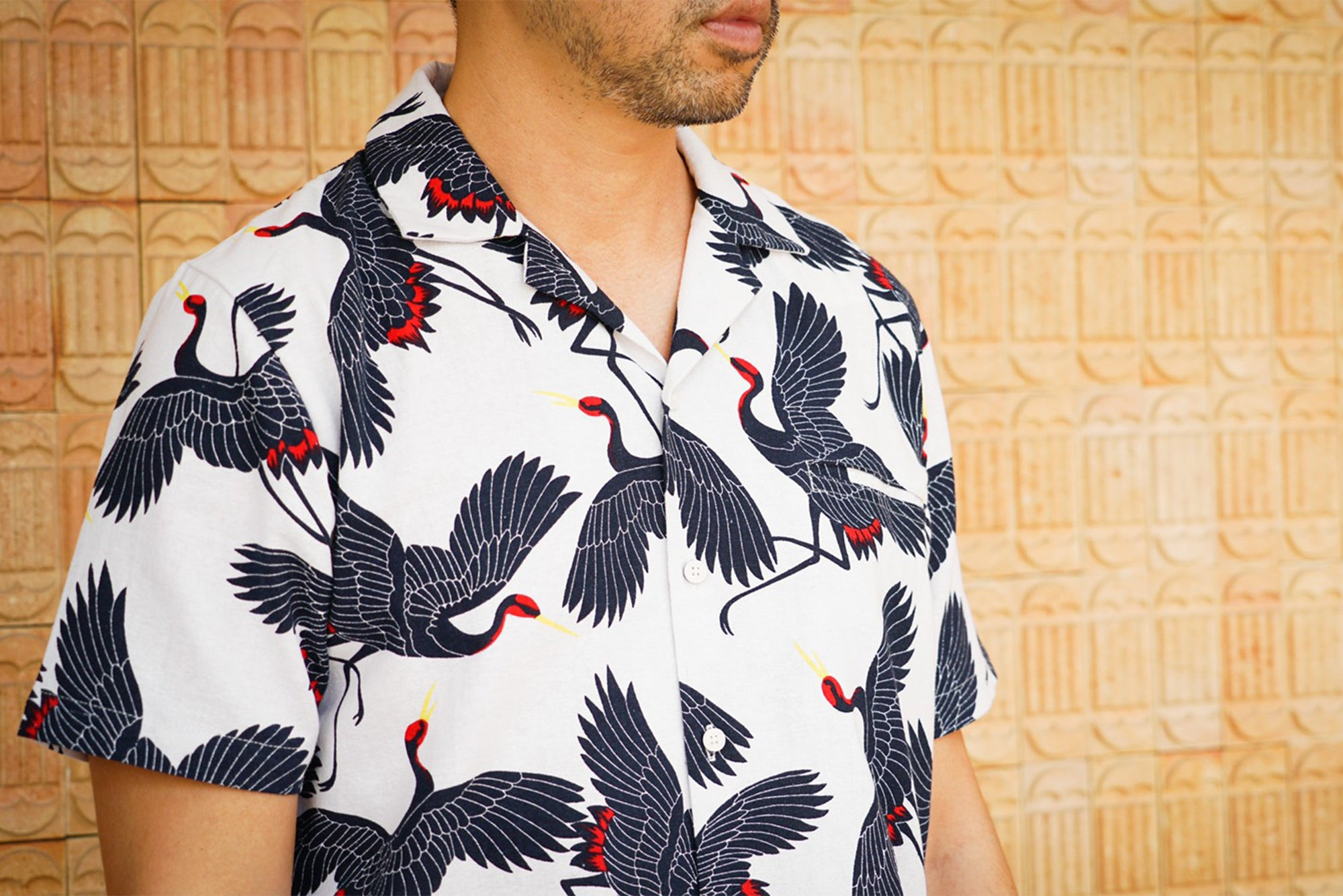 The Crane Hawaiian Collar Shirt
