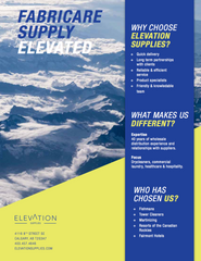 Elevation Supplies Sell Sheet