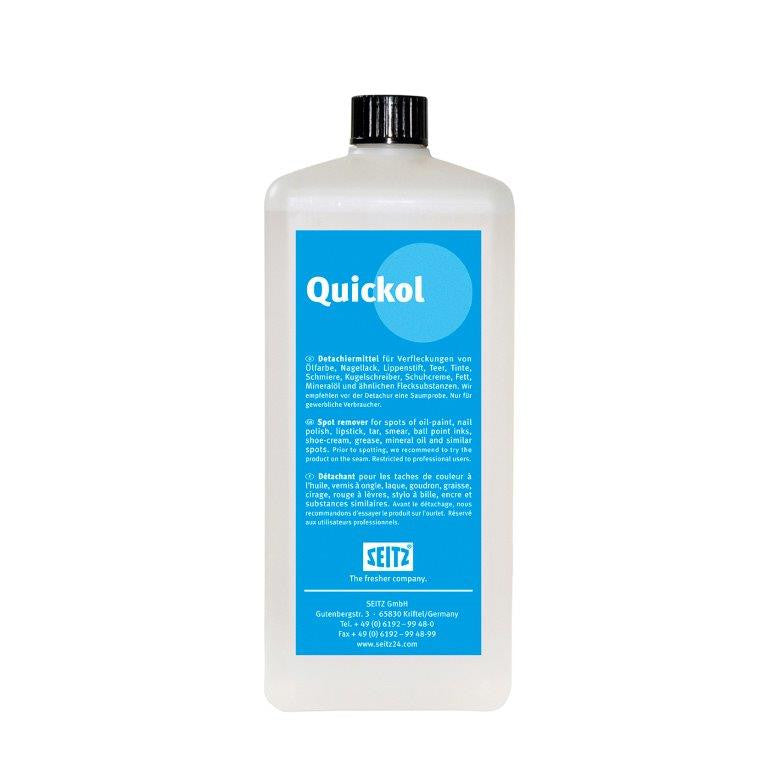 Seitz® Quickol - Post-Spotting Agent for Removal of Water & Solvent Soluble Stains (1 L Bottle) - Elevation Supplies