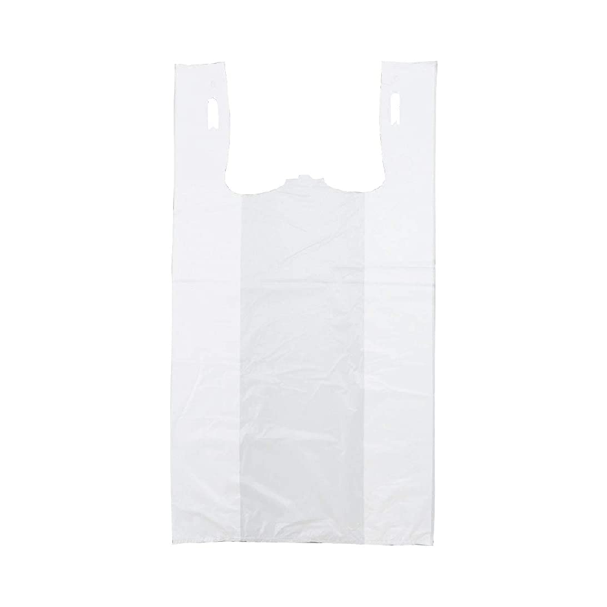 "#3 White Plain Shirt Bags - 8.5"" x 3.5"" x 18.5"" (100/bx)"