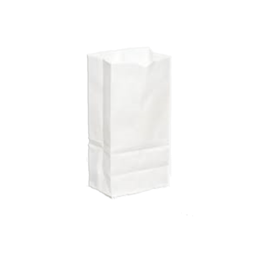 "#5 White Plain Shirt Bags (8.5"" x 5.5"" x 20"")"