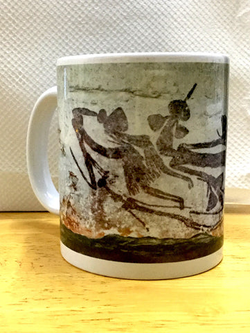 Abstract Bradshaw floating figures coffee mug