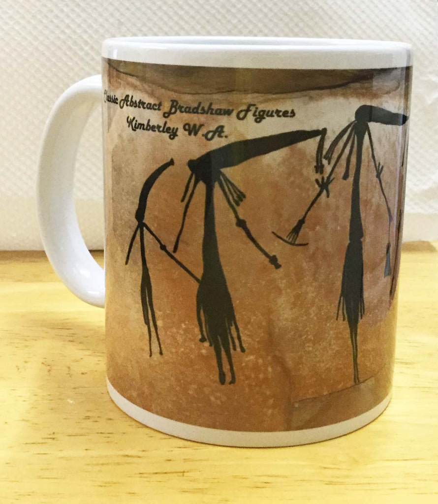 Abstract Bradshaw silhouette figure coffee mug