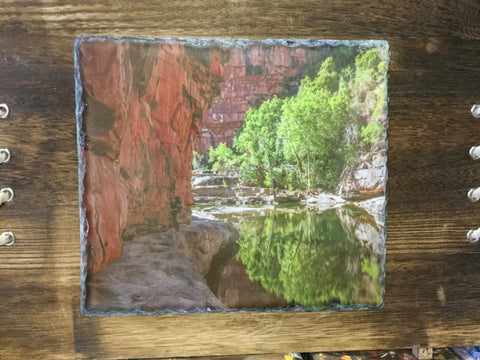 Copy of Slate on wood. Kimberley gorge scene