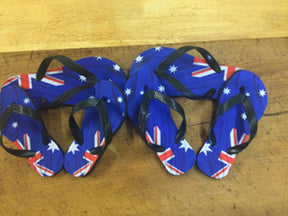 Australian Flag design Thongs