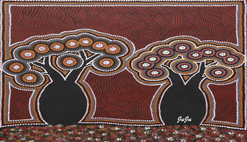 Water Bottles.  Boab Dreaming by aboriginal artist Ju Ju Wilson