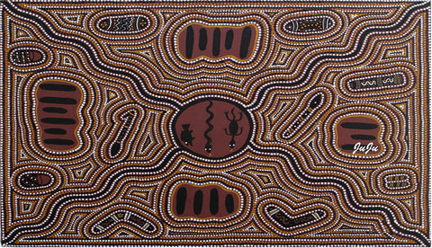 Water Bottles.  Meeting Place by aboriginal artist Ju Ju Wilson