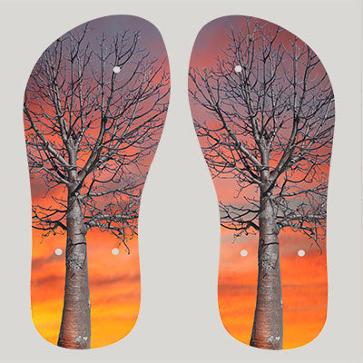 Thongs / Flip Flops Boab Sunset