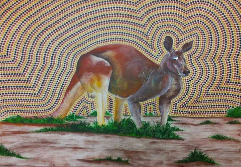 Water Bottles. Kangaroo Dreaming by Des Darby