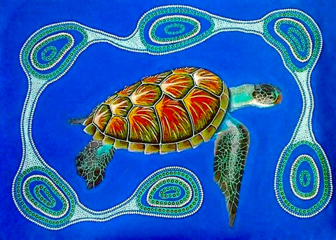 Water Bottles. Turtle Dreaming by Des Darby