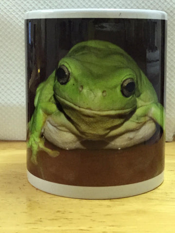 Green Tree Frog coffee mug