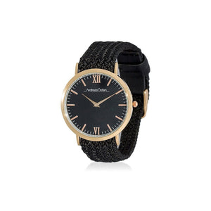 Black Analog Perlon band Casual Watch