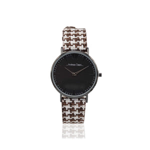 Light Brown Fancy Knitted Pattern Analog Mix Casual Watch