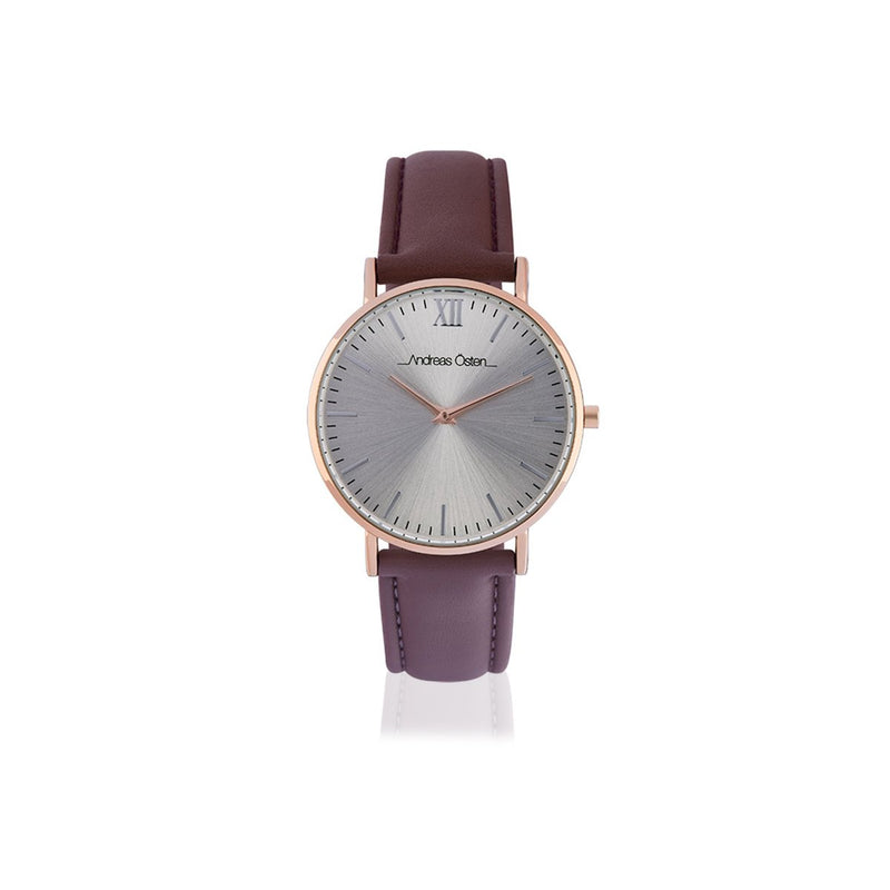 Purple with Tonal Stiched Analog Casual Watch