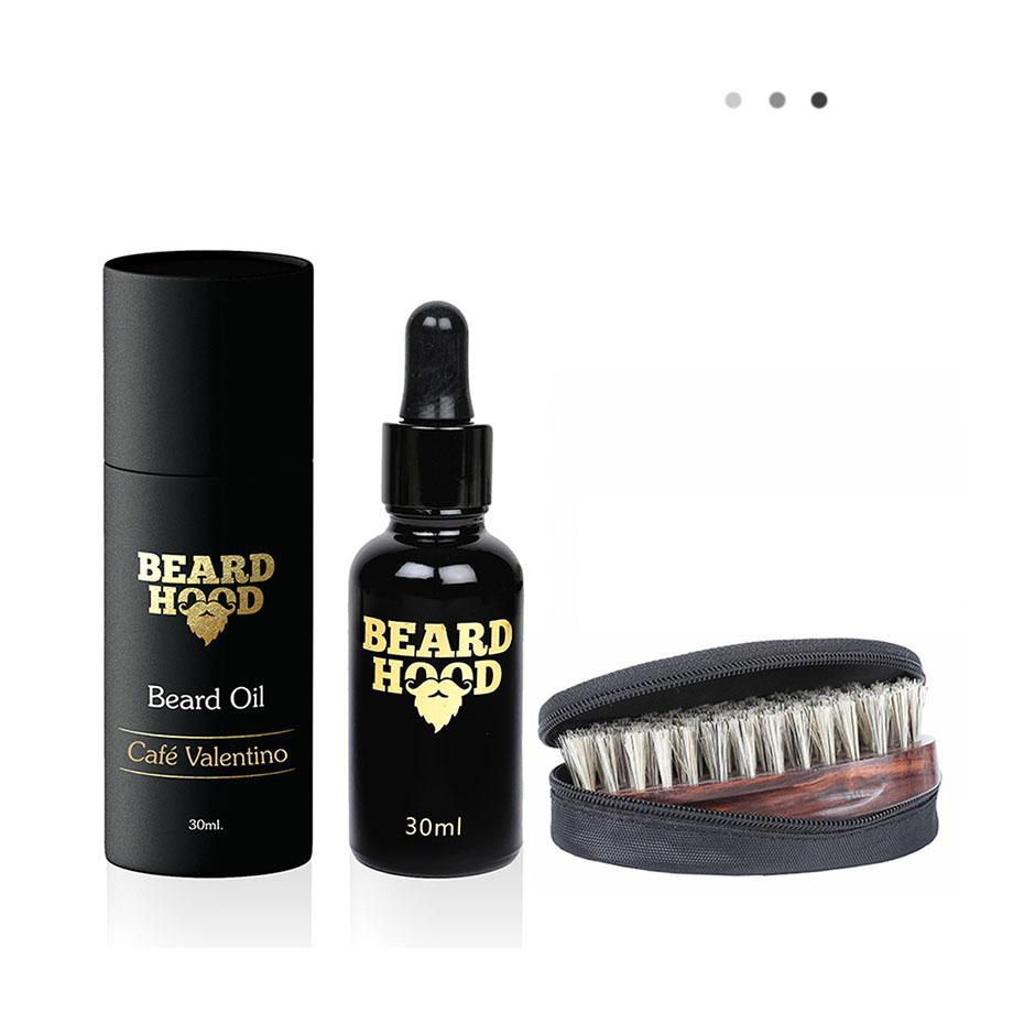 Cafe Valentino Beard Oil+Beard Brush