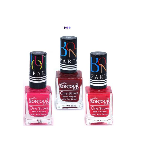 True Color Nail Polish, Red/Pink/Brown,