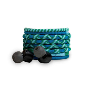 Green & Blue - Designer In-Ear Headphone with Mic & Volume Control