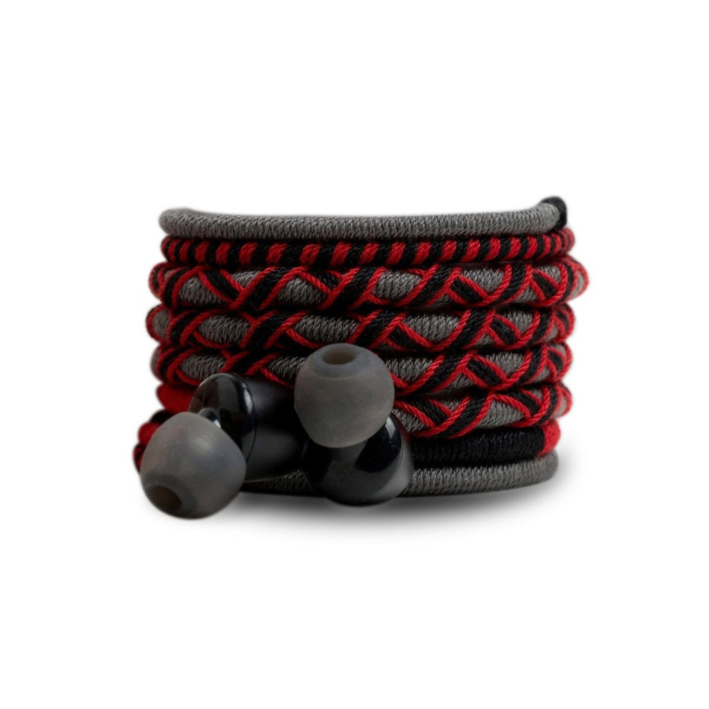 Red & Black - Designer In-Ear Headphone with Mic & Volume Control