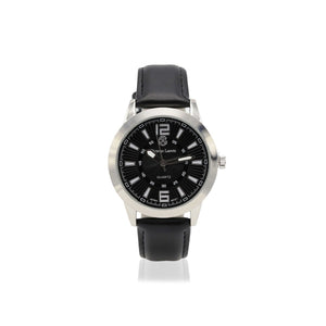 Black Analog Stainless Steel Casual Watch