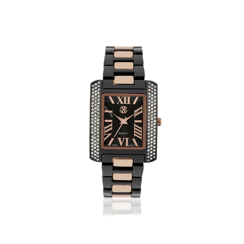 Black- Rose Gold Analog Stainless Steel Casual Watch