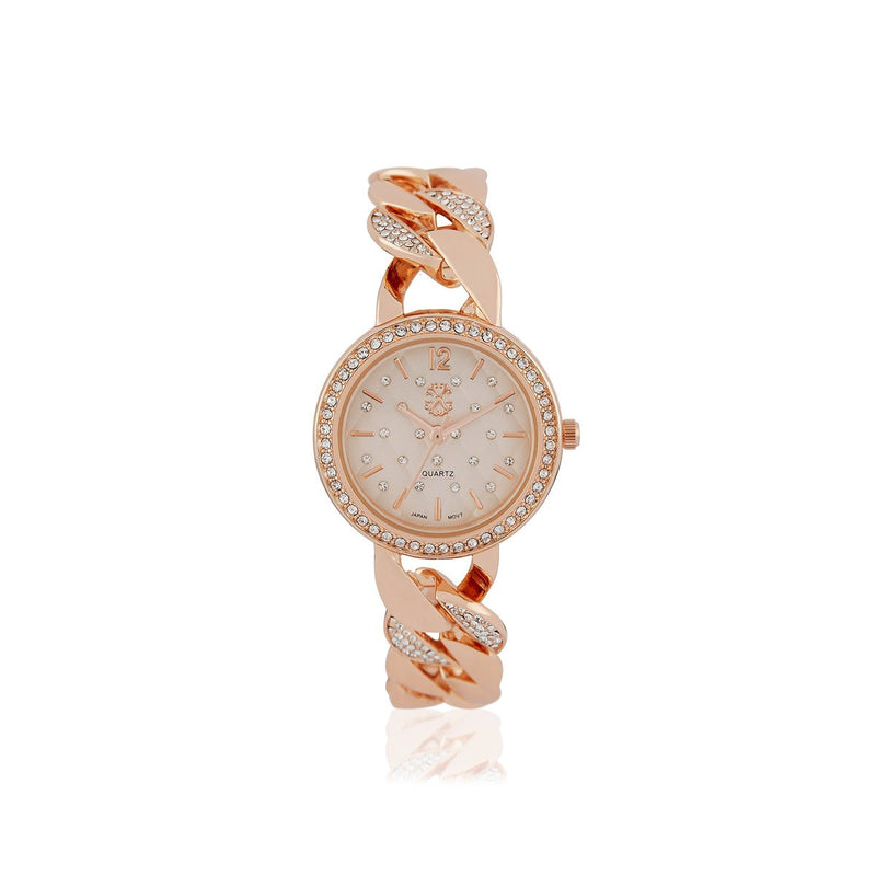 Rose Gold Analog Stainless Steel Casual Watch