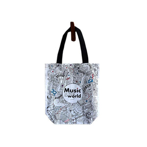 Music Addict Canvas Tote Bag