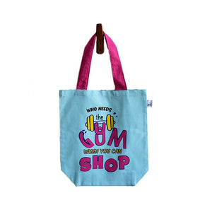 Shop till you drop Canvas Tote Bag