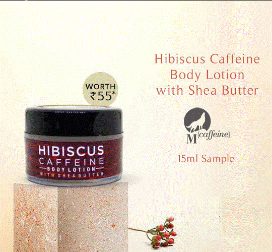 Hibiscus Caffeine Body Lotion with Shea Butter (Sample)