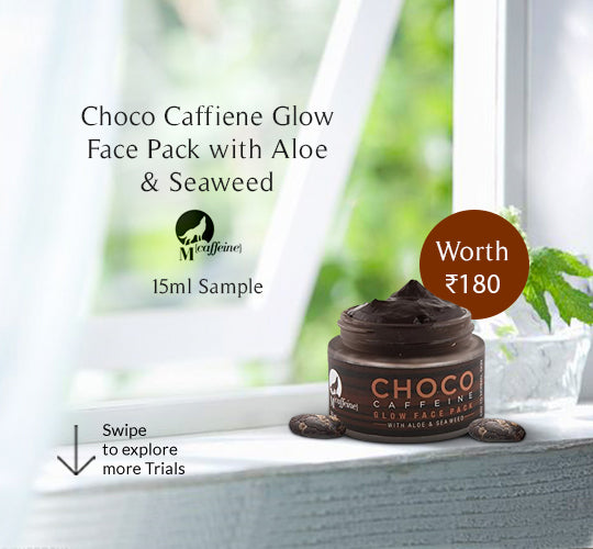 Choco Caffeine Glow Face Mask for Dry Skin with Aloe and Sea Weed