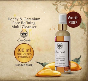 Honey & Geranium Pore Refining Multi Cleanser 100ml