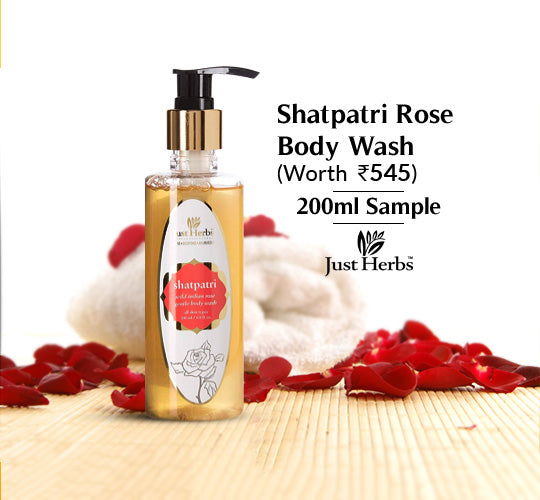 Shatpatri Wild Indian Rose Body Wash 200ml