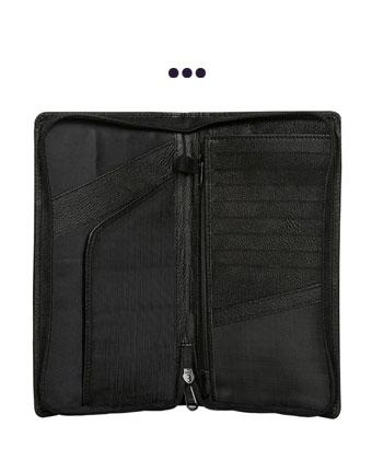 Ultimate Travel Document Organizer (Black) - RFID Blocking Technology